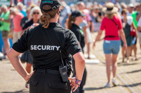 Security services for events trade shows in california